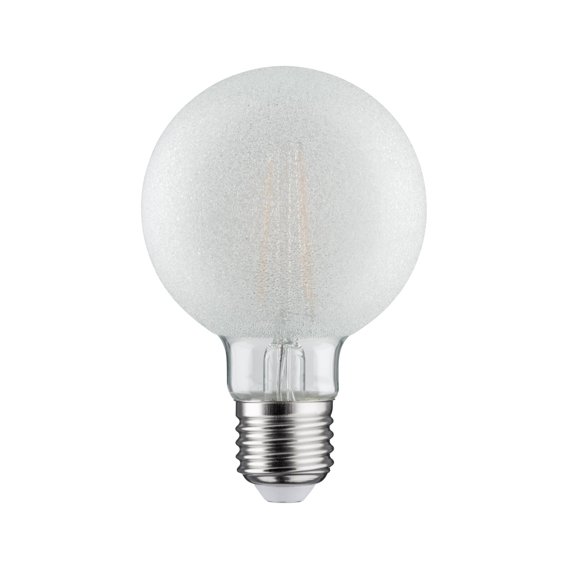 Лампа филаментная Paulmann Ретро Шар G80 6Вт 750лм 2700К Е27 230В Прозрачный Кристалл льда Регулируемая яркость 28485.
