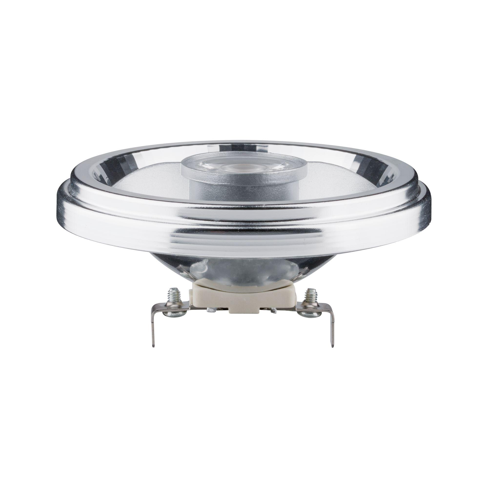 Лампа светодиодная Paulmann Рефлекторная AR111 8Вт 500Лм 2700К G53 230В Прозрачный Алюминий 28515.