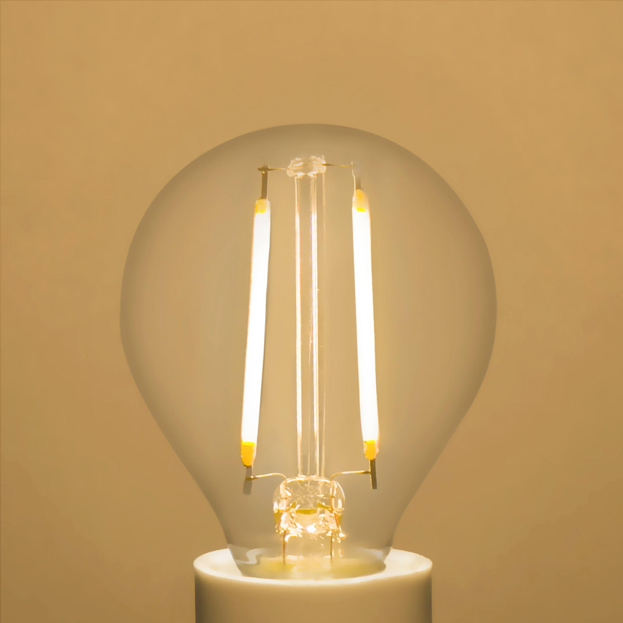 Лампа светодиодная Lexman E14 45 Вт 470 Лм 4000 K теплый белый свет прозрачная колба
