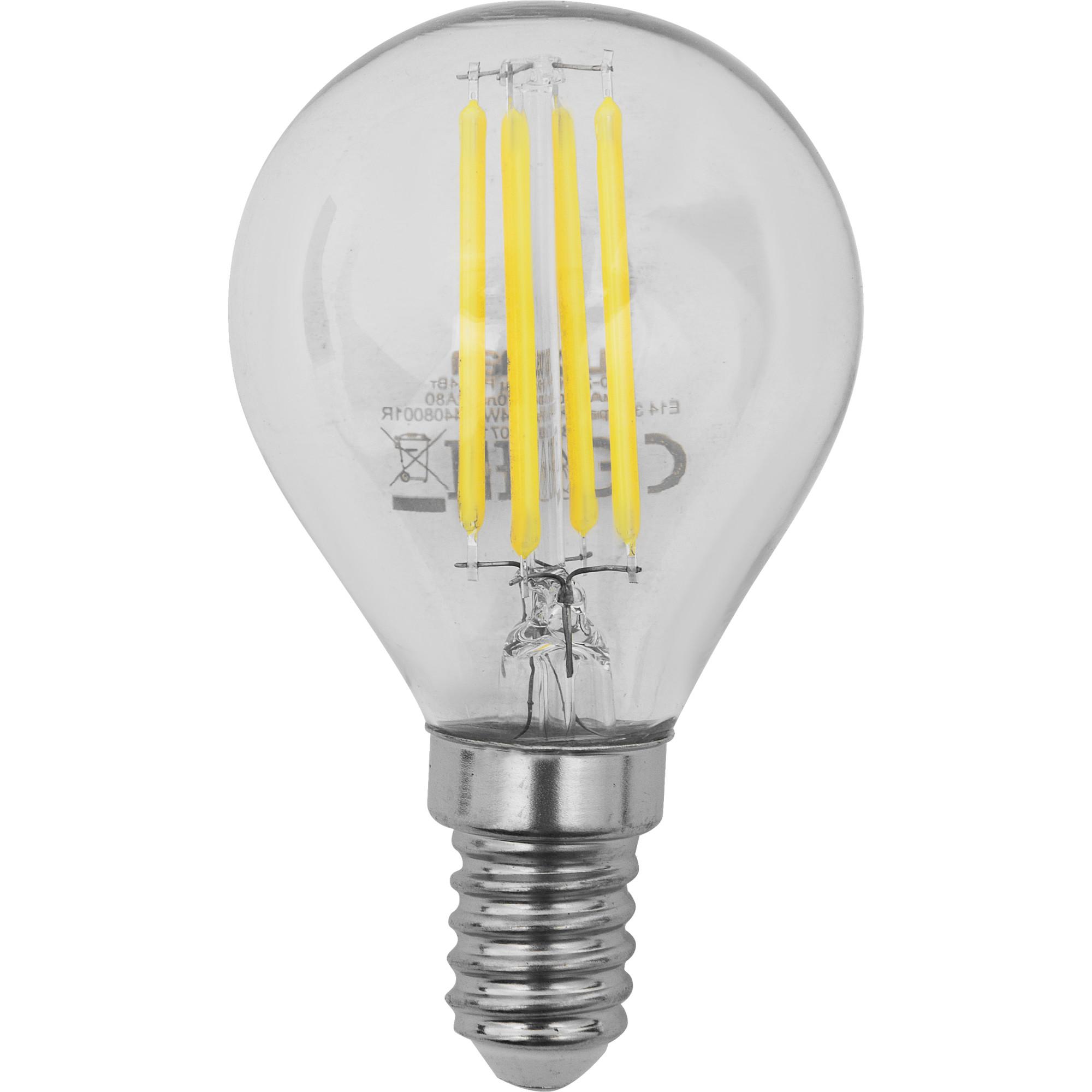 Лампа светодиодная Lexman E14 45 Вт 470 Лм 4000 K нейтральный белый свет прозрачная колба