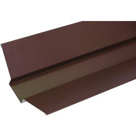 Ендова внешняя с полиэстеровым покрытием 2 м цвет коричневый