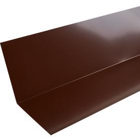 Планка примыкания верхняя с полиэстеровым покрытием 2 м цвет коричневый
