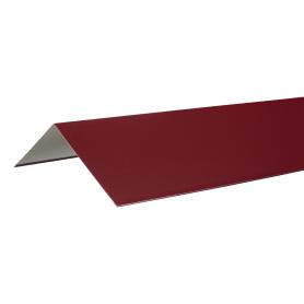 Конёк плоский с полиэстеровым покрытием 2 м цвет красный