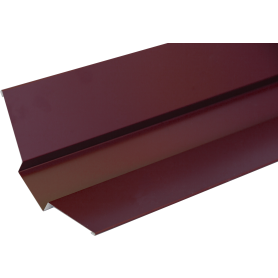 Ендова внешняя с полиэстеровым покрытием 2 м цвет красный