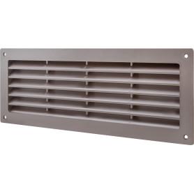 Решетка дверная вентиляционная Вентс МВ 350, 368x130 мм, цвет коричневый