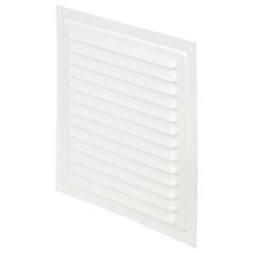 Решетка вентиляционная с сеткой Вентс МВМ 250 с, 250х250 мм, цвет белый