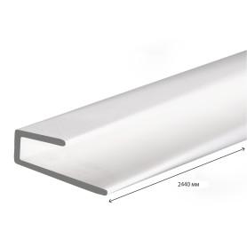 Профиль ПВХ стартовый/финишный 2.44 м для панелей 3 мм цвет белый