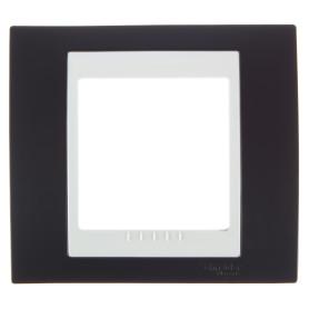 Рамка для розеток и выключателей Schneider Electric Unica 1 пост, цвет какао/бежевый