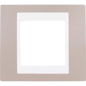 Рамка для розеток и выключателей Schneider Electric Unica 1 пост, цвет коричневый/бежевый