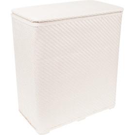 Корзина для белья Niklen плетёная 70 л полипропилен цвет белый