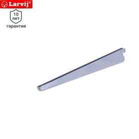 Кронштейн прямой двухрядный 37 см нагрузка до 45 кг цвет серебристый