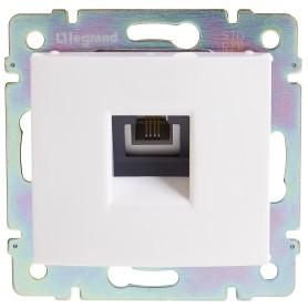 Телефонная розетка встраиваемая Legrand Valena RJ11, цвет белый