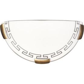 Бра Greca 1xE27x100 Вт, металл/стекло, цвет бронза