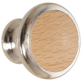 Ручка-кнопка 53 пластик цвет дерево