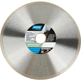 Диск алмазный для плитки Norton Ceram со сплошной кромкой 180x22.2 мм