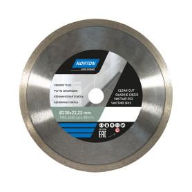 Диск алмазный для плитки Norton Ceram со сплошной кромкой 230x22.2 мм