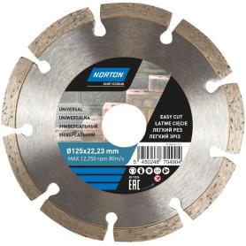 Диск алмазный универсальный Norton Universal с сегментированной кромкой 125x22.2 мм