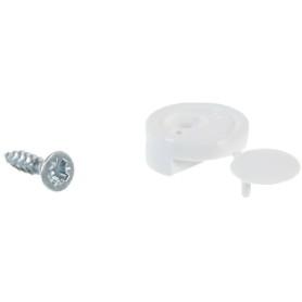 Зеркалодержатель мебельный с шурупом, пластмасса, цвет белый, 8 шт.