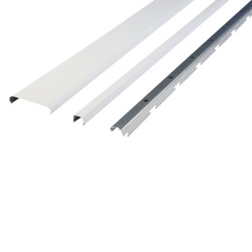 Комплект потолка для ванной 1.72х1.7 м цвет белый глянцевый/металлик