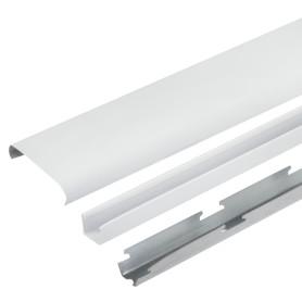 Комплект потолка для туалета 1.35х0.9 м цвет белый глянцевый/металлик
