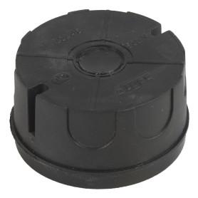 Коробка распределительная без крышки 70х70х45 мм цвет чёрный