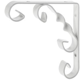 Кронштейн Орнамент 10х10 см нагрузка до 25 кг цвет белый