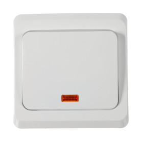 Выключатель встраиваемый Schneider Electric Этюд 1 клавиша с подсветкой, цвет белый