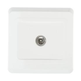 ТВ-розетка оконечная встраиваемая Schneider Electric Этюд шлейф, цвет белый