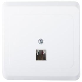Телефонная розетка встраиваемая Schneider Electric Этюд RJ11, цвет белый