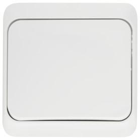 Переключатель накладной Schneider Electric Этюд 1 клавиша, цвет белый