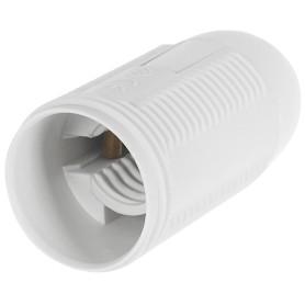 Патрон пластиковый Е14 цвет белый
