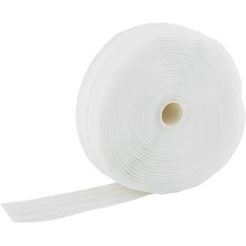Лента шторная параллельная 40 мм цвет белый