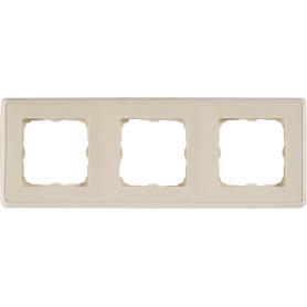 Рамка для розеток и выключателей Legrand Cariva 3 поста, цвет слоновая кость