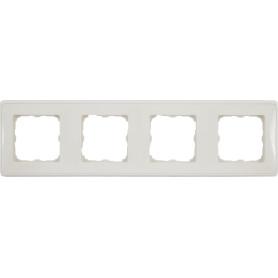 Рамка для розеток и выключателей Legrand Cariva 4 поста, цвет слоновая кость