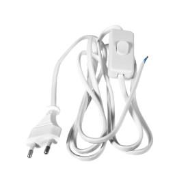 Шнур с проходным выключателем  1.8 м цвет белый