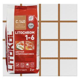 Затирка цементная Litochrom 1-6 С.140 2 кг цвет светло-коричневый