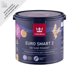 Краска Tikkurila Euro Smart-2 цвет белый 2.7 л