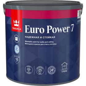Краска Tikkurila Euro Power-7 база А 2.7 л