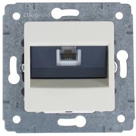 Телефонная розетка встраиваемая Legrand Cariva RJ11, цвет слоновая кость