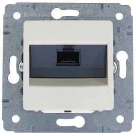 Розетка компьютерная встраиваемая Legrand Cariva RJ45, UTP cat 6, цвет слоновая кость