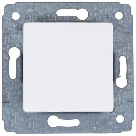 Переключатель встраиваемый Legrand Cariva 1 клавиша, цвет белый