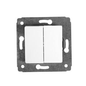 Выключатель встраиваемый Legrand Cariva 2 клавиши, цвет белый