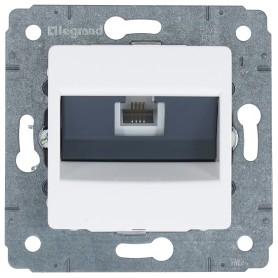 Телефонная розетка встраиваемая Legrand Cariva RJ11, цвет белый