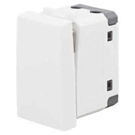 Выключатель для кабель-канала LK Studio LK45, 2 клавиши, двухмодульный, для розетки, цвет белый