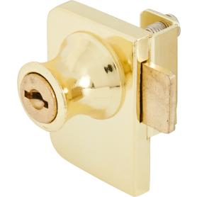 Замок мебельный накладной Boyard Z258GP.2/18, для стеклянных дверей, 48х36.5 мм, металл, цвет золото