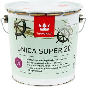 Лак полуматовый Tikkurila Unica Super ЕР 2.7 л