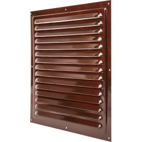 Решетка вентиляционная с сеткой Вентс МВМ 300 с, 300х300 мм, цвет коричневый
