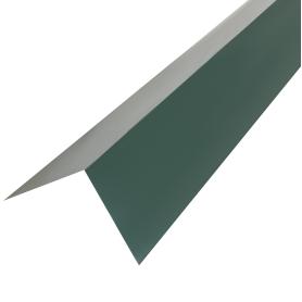 Планка для наружных углов с полиэстеровым покрытием 2 м цвет зелёный