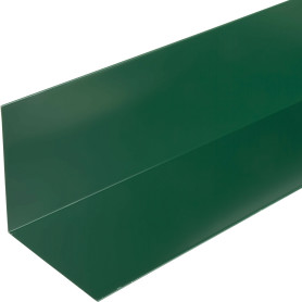 Планка для внутренних углов с полиэстеровым покрытием 2 м цвет зелёный