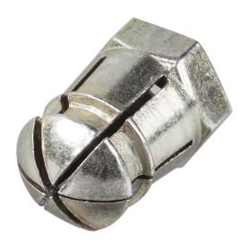 Дюбель мебельный 6 мм металл, цвет латунь, 4 шт.